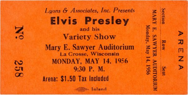 Ticket-for-Elvis-concert-in-La-Crosse-Wisconsin-1956