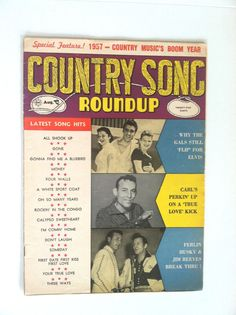RARE 1957 Country Roundup Magazine cover