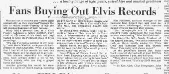NEWSPAPER 1956 June 26 Elvis at Charlotte Coliseum