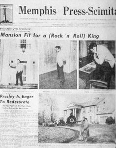 NEWSPAPER GRACELAND article Presley is eager to redectorate