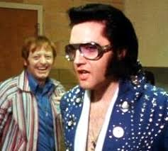 Red West with Elvis 1972 backstage Elvis on Tour