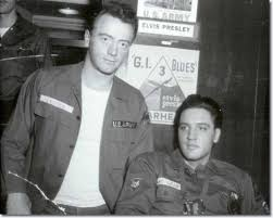 Red West with Elvis during Army days